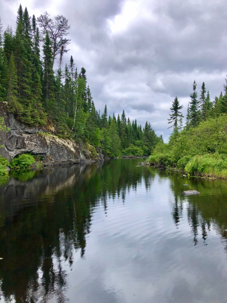 A still, beautiful channel on Ham Lake in the Boundary Waters.